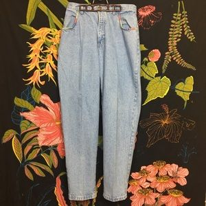 VINTAGE / Rainbow Detailed High Waist Jean